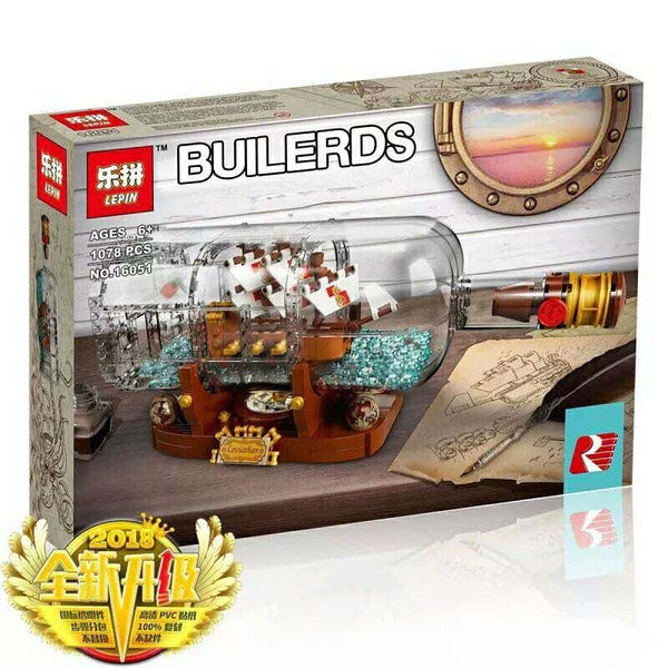 PRE-ORDER: King 83029 Ship in a Bottle (Previously known as Lepin 16051)