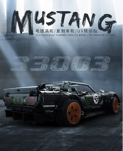 Decool 3003 Ford Mustang Hoonicorn RTR V2 Racing Car Technic