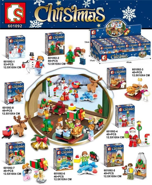 Sembo Block 601092 Christmas 8 Box Set