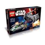 Lepin 05030 Star Wars Vader's Tie Advanced Vs A-Wing Starfighter