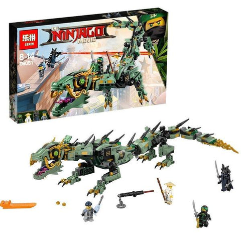 King 89037 Green Ninja Mech Dragon (Previously known as Lepin 06051)