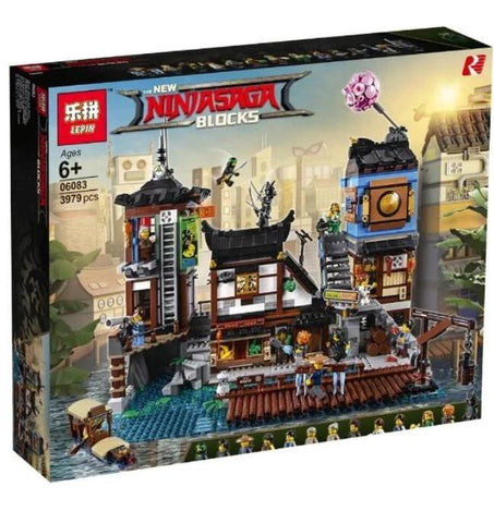King 89066 Ninjago City Dock (Previously known as Lepin 06083)