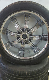 "22"" Capella 8 Rims with tires"