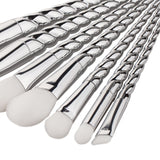 Silver Unicorn Brushes - 7 piece Set