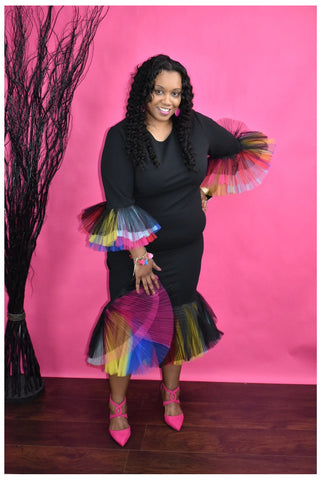 Tulle Flamingo Skirt - Slash/Tags Consignment Boutique