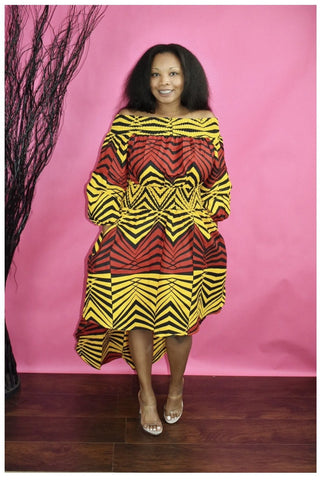 Bossey African Print Hilo Dress