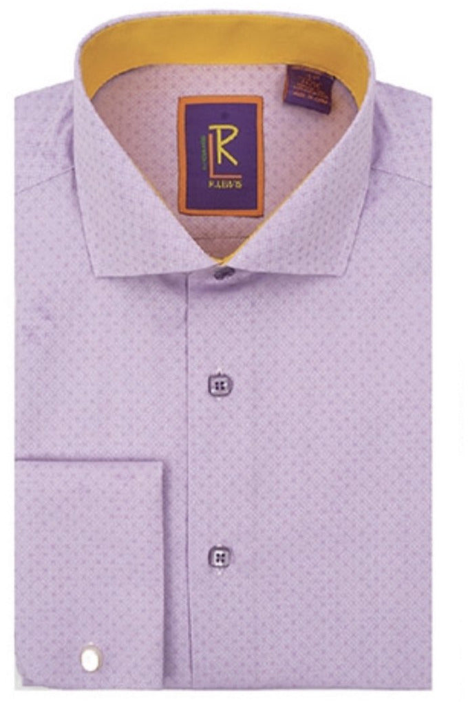 R. Lewis French Cuff Solid Men's Dress Shirt