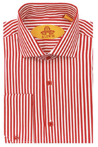 R. Lewis Striped French Cuff Shirt