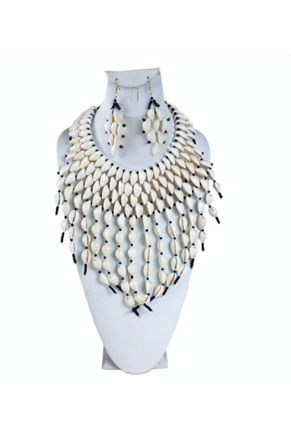 Kodi Cowrie Shell Tear Drop Jewelry Set - Slash/Tags Consignment Boutique