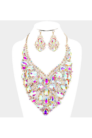 Crystal Necklace pink - Slash/Tags Consignment Boutique