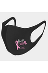 Pink Ribbon Breast Cancer Love Print Mask