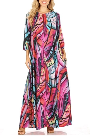 Pink Multi Maxi Dress - Slash/Tags Consignment Boutique