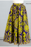 Plus Size African Print Long Skirt