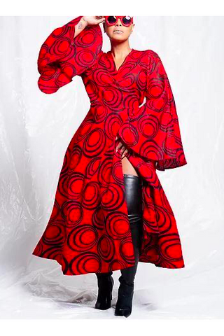 Plus-size Wrap Dress
