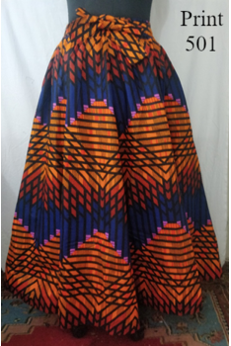 Ankara Pleated Skirt