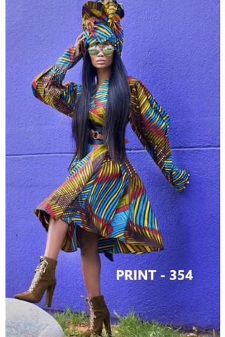 ANKARA PRINT WRAP DRESS