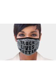 Black Lives Matter Bling Fashion Mask