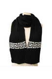 Versace Print White & Black Scarf & Glove Set