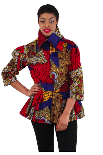 African Print Zippered Reversible Top - Slash/Tags Consignment Boutique