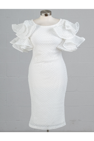 The White London Mesh Dress