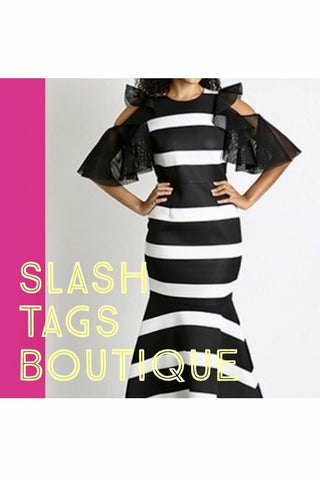 Stripe Mermaid Scuba Dress