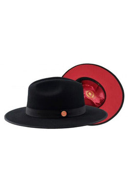 Bruno Capelo Red Bottom Monarch Australian Wool Felt Fedora Hat