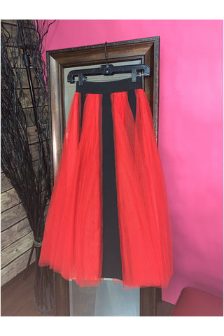 Stripe Tulle Skirt - Slash/Tags Consignment Boutique