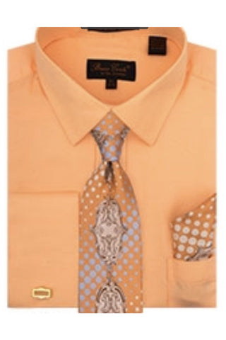 Bruno Conte French Cuff Shirts w/cufflinks & tie
