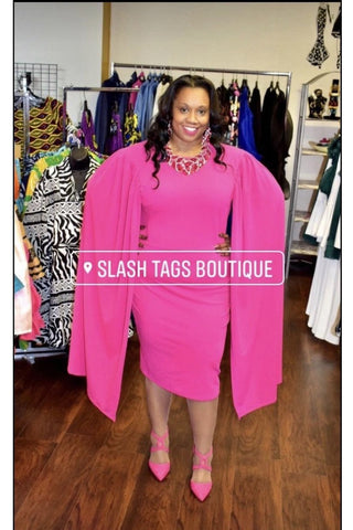 Open Sleeve Midi Dress - Slash/Tags Consignment Boutique