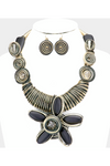 Swirl Metal Necklace Set