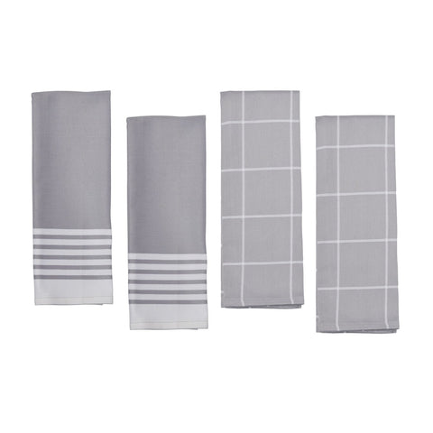 Zwilling 4 Piece Towel Set - Grey