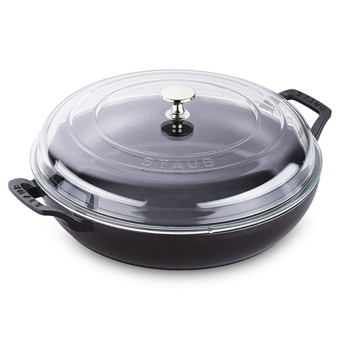 Staub 3.5 Qt Braiser with Glass Lid - Black Matte
