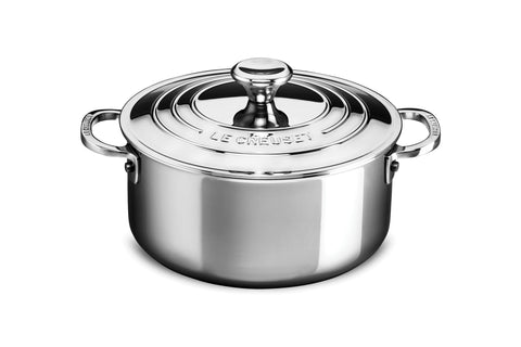 Le Creuset Stainless Steel Shallow Casserole 3.2 Qt.