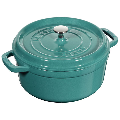 Staub 4 Qt. Round Cocotte - Turquoise