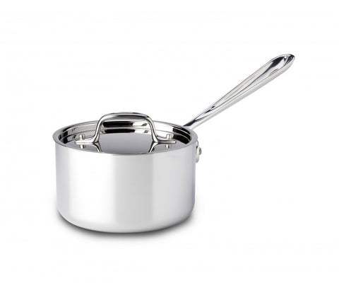 All-Clad d3 Stainless Sauce Pan with Lid - 1.5 Qt