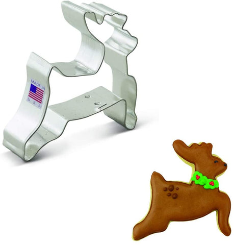 Ann Clark Leaping Reindeer Cookie Cutter