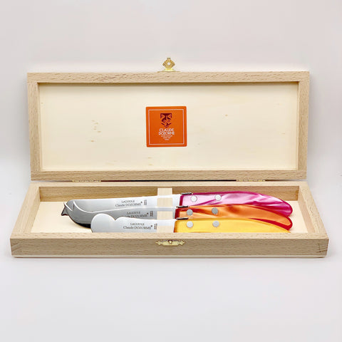Claude Dozorme Berlingot Breakfast Cheese Set - Orange & Rose