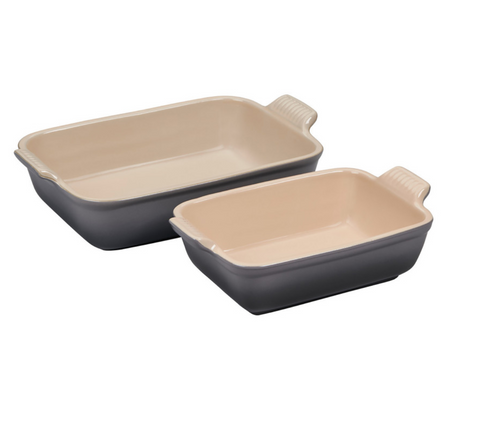 Le Creuset Heritage Baking Dishes, Set of 2 - Oyster