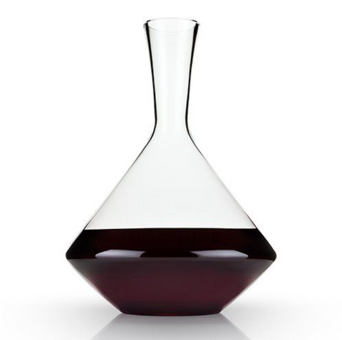 Viski Raye Angled Lead Free Crystal Decanter