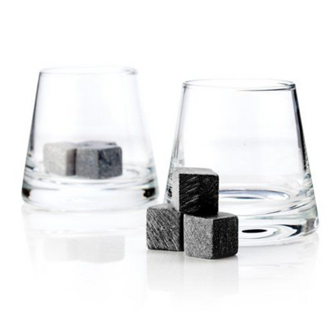 Viski Soapstone Cube and Tumbler Set