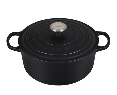 Le Creuset 5.5 Qt. Signature Round Dutch Oven - Licorice