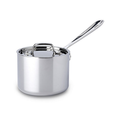 All-Clad d3 Stainless Sauce Pan with Lid - 2 Qt