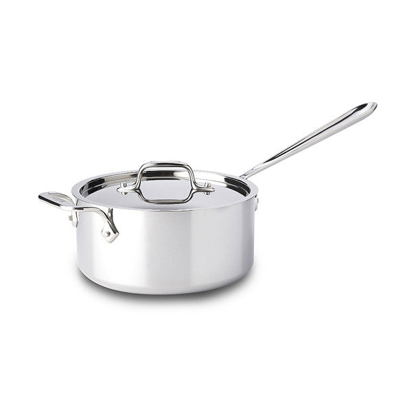 All-Clad d3 Stainless Sauce Pan with Loop & Lid - 3 Qt