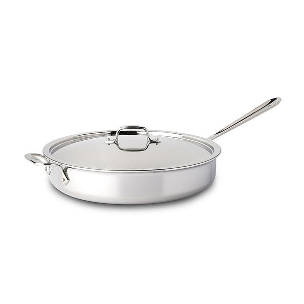 All-Clad d3 Stainless Saute Pan with Lid - 6 Qt
