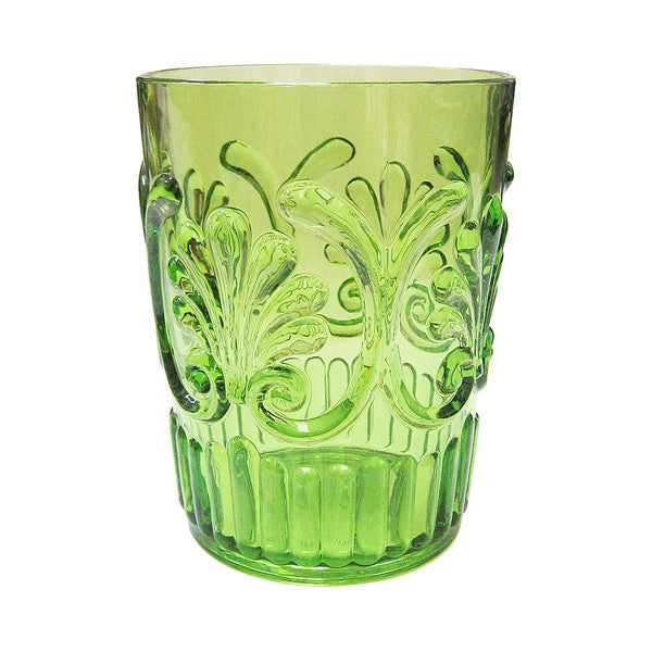 "Le Cadeaux Polycarbonate 4.5"" Water Glass - Light Green"
