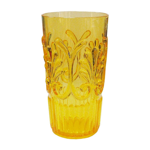 "Le Cadeaux Polycarbonate 6.5"" Highball Glass - Yellow"