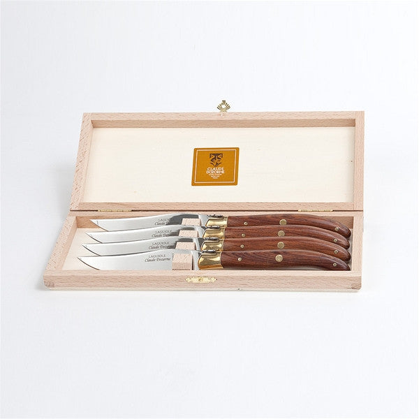 Claude Dozorme Laguiole Steak Knife Set - Vallernia Wood