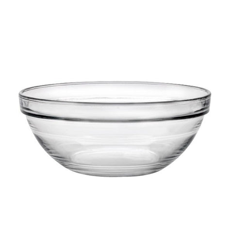 "Duralex 8"" Lys Stackable Glass Bowl"