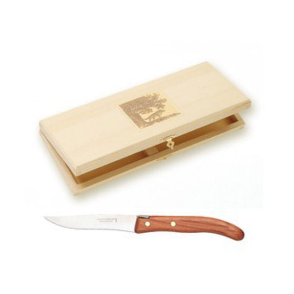 Claude Dozorme Berlingot Steak Knives - Wood