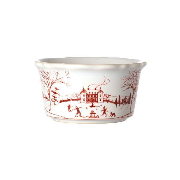 Juliska Country Estate Salad Ramekin - Winter Frolic Ruby